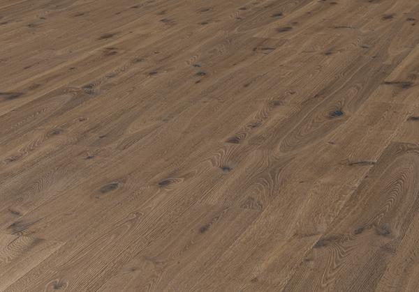 Landhausdiele Eiche Parkett Lübeck Desert astig geräuchert weiß geölt tief gebürstet