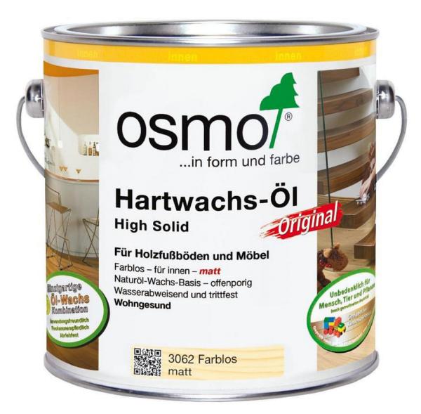 Osmo Hartwachs-Öl Original farblos halbmatt 2,5 Ltr.