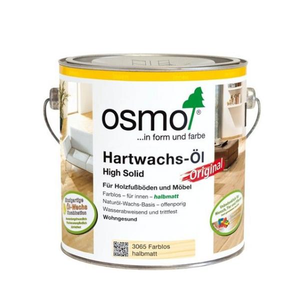 Osmo Hartwachs-Öl Original farblos halbmatt 0,75 ltr.
